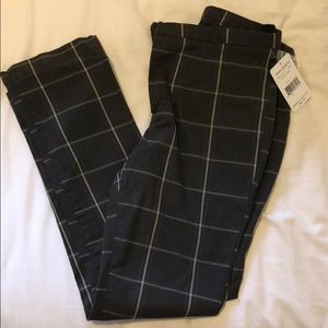 size zero free people plaid gray pants